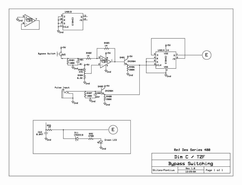 Dim C Tzf Cd 4013 Toggle Switch Design Trick 1 Electronics Hobby Dimc Bypass Circuit Schematic