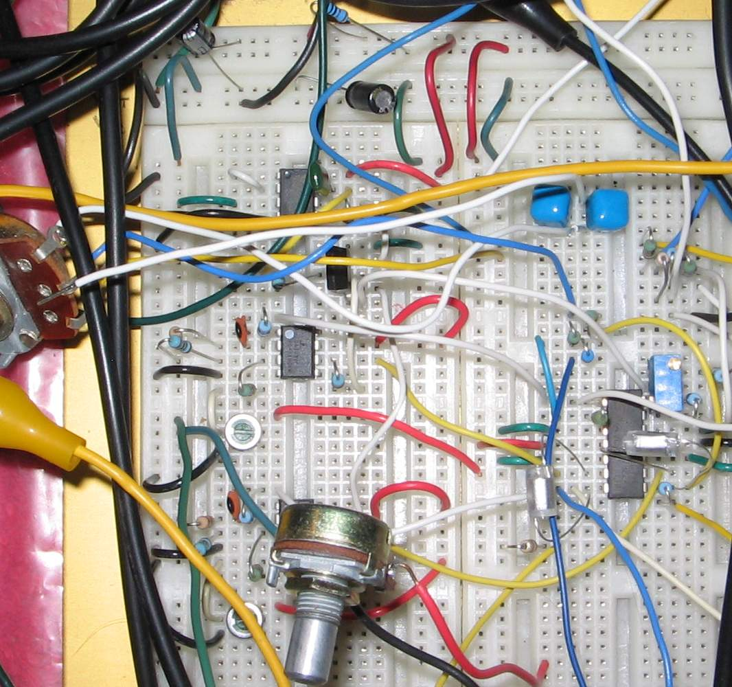 Vcf 1 Voltagecontrolledstatevariablefilter Powersupplycircuit Breadboarded